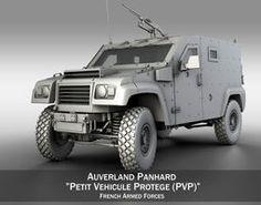 Auverland Panhard PVP - Army 3D Model