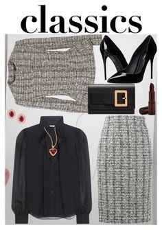 """""""Tried and True: Wardrobe Staples"""" by ann-kelley14 on Polyvore featuring Alexander McQueen, Dolce&Gabbana, Diane Von Furstenberg, Bally, Fashion Fair and Gurhan"""