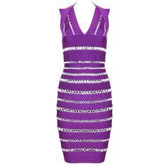 b1d2d9a32228 Bandage Halter V-Neck Crystal Cocktail Party Dress