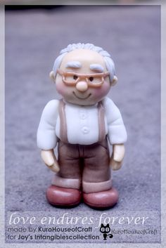 "Grandfather Cold Porcelain Clay - Insipirated from ""UP"" movie http://kurohouseofcraft.blogspot.com/2014/03/clay-grandpa-and-grandma-love-endures.html"
