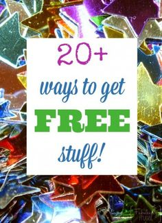 fun and creative ways to get free stuff, because we all love FREE!