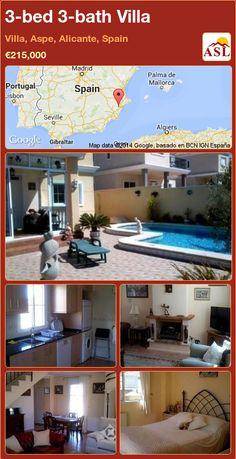 3-bed 3-bath Villa in Villa, Aspe, Alicante, Spain ►€215,000 #PropertyForSaleInSpain