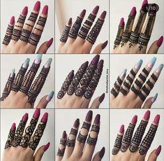 Henna Hand Designs, Finger Mehendi Designs, Wedding Henna Designs, Simple Arabic Mehndi Designs, Henna Tattoo Designs Simple, Latest Bridal Mehndi Designs, Modern Mehndi Designs, Mehndi Designs For Beginners, Mehndi Design Photos