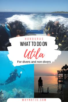 Your guide to what to do on Utila a Caribbean island in Honduras. All info you need for your Utila diving experience and what else to do on Utila if you're not diving central america destinations Backpacking South America, Backpacking Asia, South America Travel, North America, Costa Rica, Roatan, Scuba Diving, Cave Diving, El Salvador