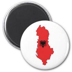 Albania - map and flag - magnet - Shqiperia - harta e Shqiperise dhe shqiponja e flamurit