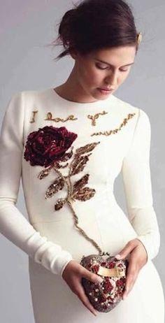 Dolce & Gabbana dress via @jena1125. #dresses #DolceGabbana
