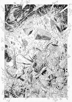 Alice in Wonderland, ink version by sifterone.deviantart.com on @DeviantArt