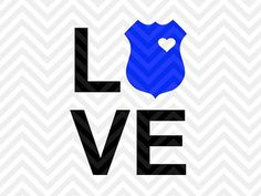 Love Police Badge SVG and DXF Cut File by KristinAmandaDesigns