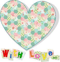 love card heart sweet letters