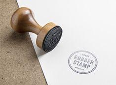Rubber Stamp PSD MockUp graphicburger.com