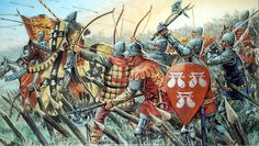 English Knights and Archers, Hundred Years War by Giuseppe Rava