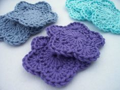Scrubbies makeup removal flower pads
