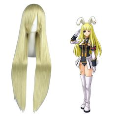 Umineko: When They Cry Chiesters Light Blonde Cosplay Wig