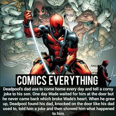 "17.1k Likes, 134 Comments - Comic Facts (@comics.everything) on Instagram: ""Aside from being an asshole, Deadpool has feelings too …"""