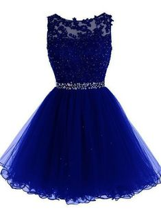 online shopping for Tideclothes ALAGIRLS Short Beaded Prom Dress Tulle Applique Homecoming Dress from top store. See new offer for Tideclothes ALAGIRLS Short Beaded Prom Dress Tulle Applique Homecoming Dress Royal Blue Prom Dresses, Lace Homecoming Dresses, Beaded Prom Dress, Lace Evening Dresses, Prom Dresses Blue, Dresses For Teens, Pretty Dresses, Dress Lace, Quinceanera Dama Dresses