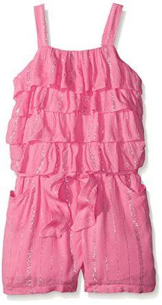 Kensie Little Girls 3 Piece Cami Multi Tulle Chiffon Top with Denim Short 4