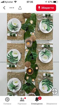 Tropical wedding party table decor place setting table pictures and .- Tropische hochzeitsfeier tischdekor gedeck tabellenbilder und teller Tropical wedding table decoration table cover and table Tropical Wedding Reception, Wedding Reception Table Decorations, Wedding Table Settings, Decoration Table, Place Settings, Reception Ideas, Wedding Centerpieces, Summer Table Decorations, Setting Table