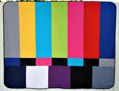 TV Color Bars Quilt from We Love Color- Andy's  birthday? (Christmas might be ambitious)