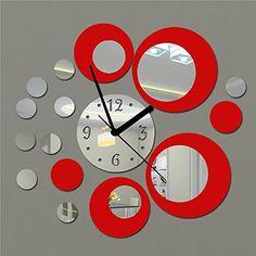 En nuestra tienda online las cosas más últiles para tu hogar: Miryo-Reloj de pared de metal con efecto de espejo Adhesivo Vinilo rojo plata decoracion moderno sala salon dormitorio #homedecor #garden #hogar #jardin #decoracion Más en http://todohogarweb.es/wordpress/producto/miryo-reloj-de-pared-de-metal-con-efecto-de-espejo-adhesivo-vinilo-rojo-plata-decoracion-moderno-sala-salon-dormitorio/
