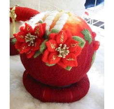 Christmas Tree Ornament Christmas Felt Ball Ornamest by RumiWay