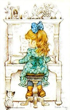 Vintage Blank Back Sarah Kay Playing Card Very Good Condition Smooth Stock Sarah Key, Cute Images, Cute Pictures, Emoji Coloring Pages, Retro, Sweet Pic, Holly Hobbie, Illustrations, Painting For Kids