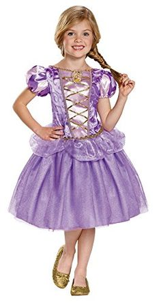 Rapunzel Tangled Costume for Girls size 4-6X /& 7-8 W//SHOES! Disney by Disguise