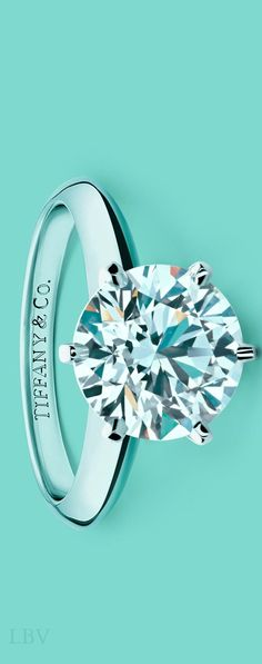 Beautiful Tiffany Co. Engagement Ring(that I will pin to my humor board because I will never own so it's kinda funny in a sad way)