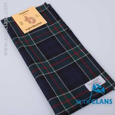Wool pocket square in Colquhoun Modern tartan - from ScotClans