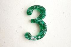 Ready To SHIP Resin Number 3 Number Three by WordosaurusText