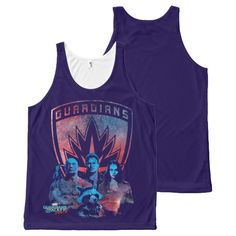 Guardians of the Galaxy Vol. 2   Crew Badge All-Over-Print Tank Top   Marvel Comics Tank Tops For Teens and For Women   Marvel Fans