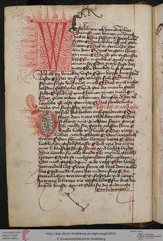 Cod. Pal. germ. 4 Rudolf von Ems: Willehalm von Orlens ; Dietrich von der Glesse: Der Gürtel (Borte) ; Peter Suchenwirt: Liebe und Schönheit 3verso