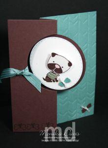 Stampin' Up! Circle Card Thinlit, Big Shot, Hot Diggity Dog stamp set.  It's a bobble-head dog!!
