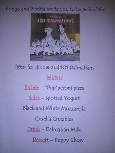 Disney Dinner Nights - 101 Dalmatians