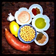 Sweet Potato Hummus  #vegetarian #vegan #recipe