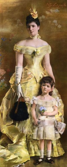 Lady in Yellow Dress in Painting