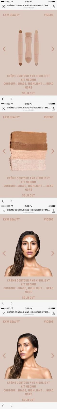 Other Face Makeup: Kkw Medium Crème Contour And Highlight Kit Kim Kardashian Beauty Order Confirmed -> BUY IT NOW ONLY: $175 on eBay!