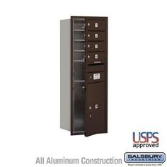 4C Horizontal Mailbox - 11 Door High Unit (41 Inches) - Single Column - 4 MB1 Doors / 1 PL5 - Bronze - Front Loading - USPS Access by Salsbury Industries. $405.00. 4C Horizontal Mailbox - 11 Door High Unit (41 Inches) - Single Column - 4 MB1 Doors / 1 PL5 - Bronze - Front Loading - USPS Access - Salsbury Industries - 820996412294. Save 10%!