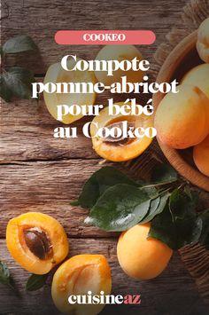 Pour votre bébé vous pouvez préparer cette compote pomme et abricot faite maison au Cookeo. Entre 4 et 6 mois, vous pourrez commencer à la lui donner ! #recette#cuisine#compote#fruit  #pomme #abricot #robotculinaire#cookeo#moulinex Fruit, Cantaloupe, Robot, Cooking Recipes, 6 Months, Home Made, Thermomix, Robots