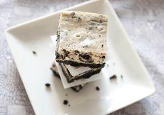 Oreo Cheesecake bars.  I wanna do this with thin mints!