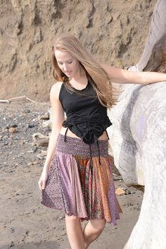 Get 15% Off Storewide Plus Free Shipping! Cotton patchwork mini skirt with elastic waist