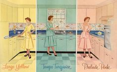 The colorful 1950s kitchen - The epitome of post-war optimism and progress - Walls with Stories