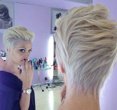 Latest popular short cut for women – short ombre pixie cut