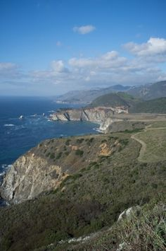 Big Sur coastline in California, with Bixby Bridge in the distance. Very picturesque, lots of stops along PCH (Pacific Coast Highway) to stop and enjoy the drive. November 2011