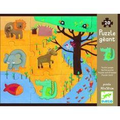Puzzle dotykowe Zwierzęta w dżungli, Djeco