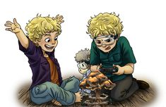 Twins colored by iesnoth.deviantart.com on @deviantART (The kid on the right reminds me of Eron when he was little, and the one of the left is like Luke when he was little.)