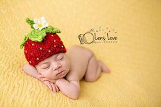 Strawberry Handspun Beanie