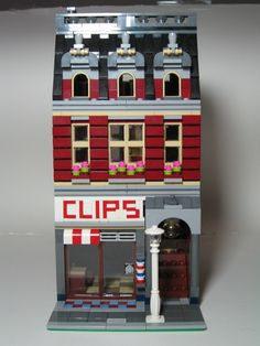 Modular Barber Shop with Apartment above: A LEGO® creation by LegoRyu 1777 : MOCpages.com