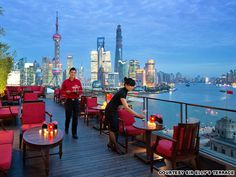 Sir Elly's Terrace (Shanghai) Sir Elly's Terrace at The Peninsula Shanghai promises good drinks, light snacks and the sense that, for an evening at least, the whole city is looking up to you. Best rooftop bars | CNN Travel