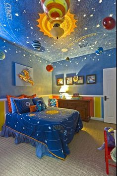 Solar system kids room