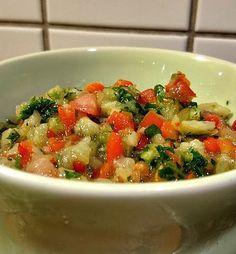 Aubergine salat eggplant salad